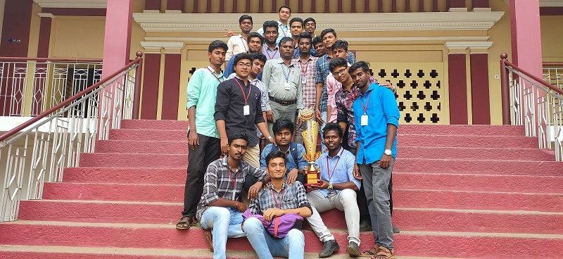 Dept. of BBA Students - won the overall winner prize in the National Level Management Meet - `Biz-Spark` 2K19`