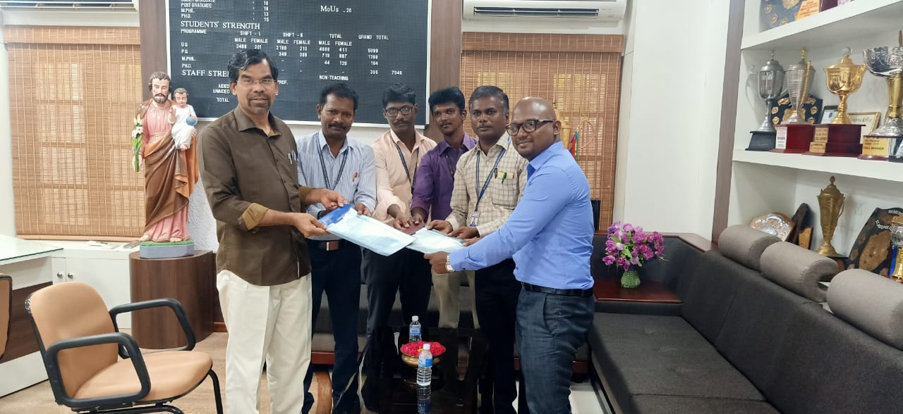 MoU between Department of BBA and Inymart Digi Solution, Trichy